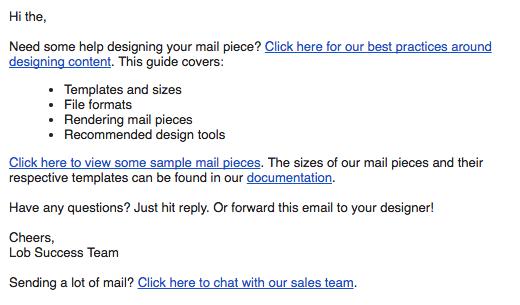 Send structured emails