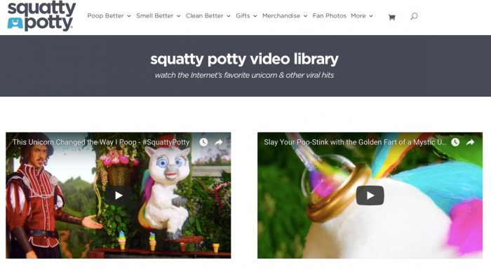 Squatty Potty opted to shine a light on the issue with a delightfully bizarre video featuring Prince Charming and eating unicorn poop.