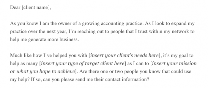 Here's an example of an email that does a nice job of asking without begging.