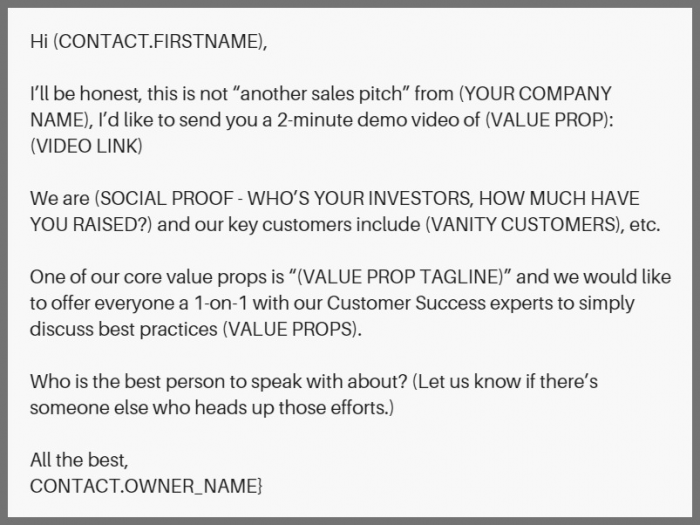 use this email template when adding a famous investor into your email to build social proof.