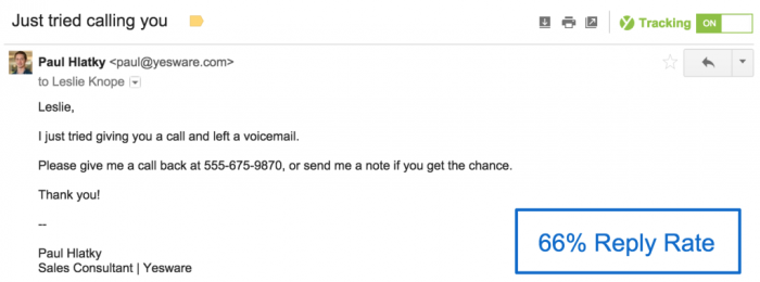 Blunt email